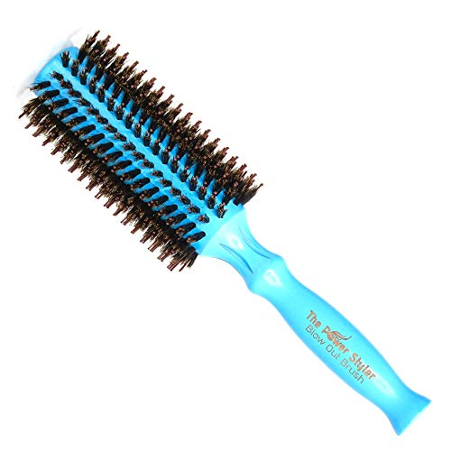 Round Brush, Boar Bristle Hair Brush For Women, Hair Straightening Brush Or Curling Brush For Blow Dry, Best Hair Dryer Brush And Best Hair Products. Medium (60mm) By The Power Styler