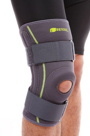 Senteq Adustable Hinged Knee Brace With Spring Best Support For Knee, Acl, Patella Tendon & Meniscus Injuries Athletic Compression Brace For Running & Arthritic Joint Support (sq1 L007 M)
