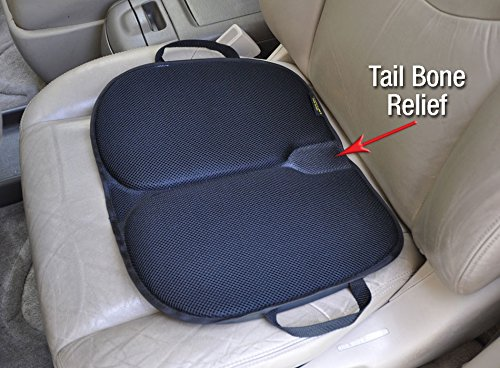 Skwoosh Auto Car Gel Seat Cushion Orthopedic Ergonomic | Best For Drivers And Passengers For Long Durations |convenient, Handles, Washable, Tailbone Pressure Relief With Patented Gel | Made In Usa
