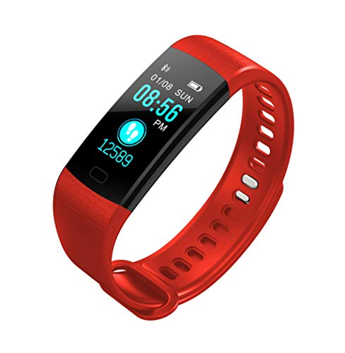 Smart Watch Unisex Best Slim Easy Fitness Tracker Heart Rate Monitor, Gym Sports Tracker Watch, Waterproof Pedometer Watch With Sleep Monitor, Step Tracker (red)