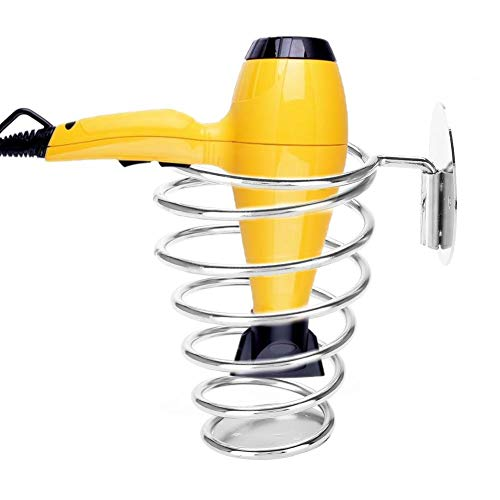 Spiral Blower Stand, Spring Style Wall Mounting Hair Dryer Hanging Rack, Top Quality Stainless Steel Hairdryer Blowers Holder, Best Choice For Home Hair Salon Beauty Salon