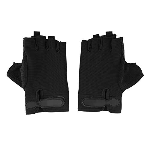 T Best 1 Pair Half Finger Gloves, Cycling Gloves Fitness Gloves For Outdoor Cycling Climbing Sports(black)