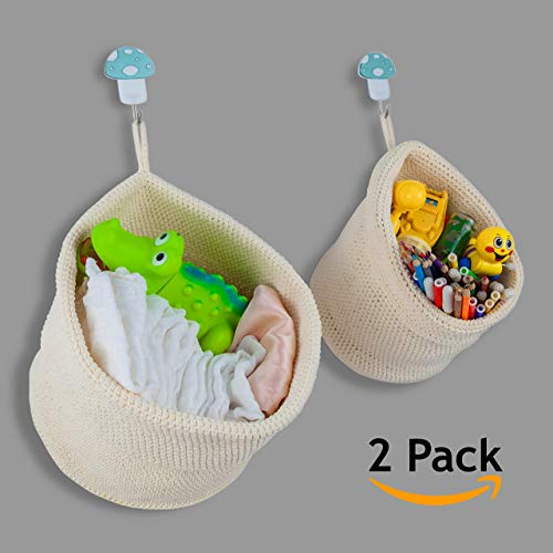 Viamaz Closet Organizers And Storage Hanging Basket Set Of 2 Size Best Space Saving Small Baskets For Bathroom Over The Door Baby Diaper Toy Bedroom Kitchen Home Décor Hotel Resort Spa Accessories