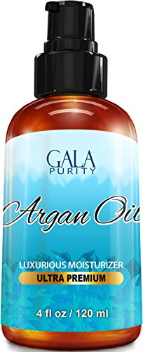 Virgin Argan Oil Large 4oz Moroccan Variety, Best All Natural Moisturizer For Hair, Skin, Face And Nails: Conditioning, Anti Aging, Eliminate Dryness, Improve Skin, Acne, Nails & Cuticles