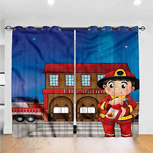 Zara Henry Abstractbedroom Curtains Living Room Curtains Kitchen Curtains Office Curtains Dark Curtain Fire Station Extinguisher The Best Choice For Bedroom And Living Room W120xl84