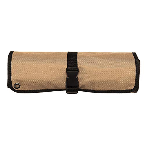 10 Slots Chef Knife Roll Bag Waterproof Oxford Cloth Roll Utensil Holder Storage Bag Multi Purpose Knife Roll Pouch With Cover Flap Wrap String Best Gift
