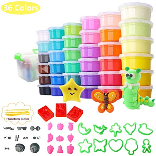 36 Colors Modeling Clay Kit, Ultra Light Magic Clay Air Dry Clay With Modeling Tools Accessories, Manual And Storage Box Best Diy Crafts Gift For Kids Age 3 12 Year Old