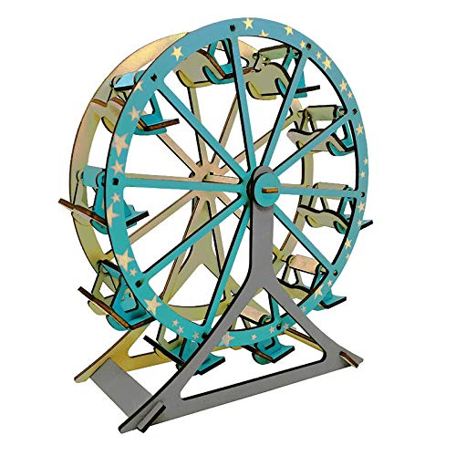 3d Wooden Puzzle Assemble Toy For Girls & Boy Adults Diy Building Block Ferris Wheel Beginner Jigsaw Home Decoration Diy Model Best Educational Birthday Day Gift For Kids Ages 7+ Year Old