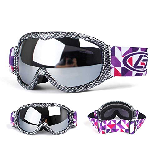 Aizihan Kid Ski Goggles Multicolor Lenses Snow Goggles With Wind Dust Uv 400 Protection Fits Children Youth Boys Girls Halloween Christmas Holiday Best Gift,gray