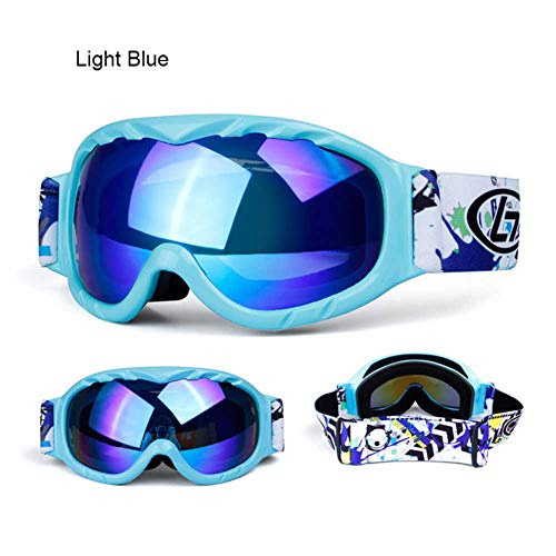 Aizihan Kids Snowboard Goggles, Kids Snow Goggles Fits Children Youth Boys Girls Halloween Christmas Holiday Best Gift,blue