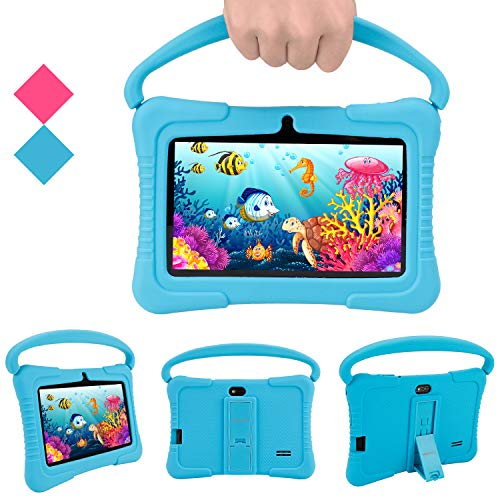 Android Tablets Pc, Veidoo 7 Inch Kids Tablet With 1gb Ram 16gb Storage, Safety Eye Protection Ips Screen, Premium Parent Control Pre Installed Educational App, Best Gift For Children (blue)