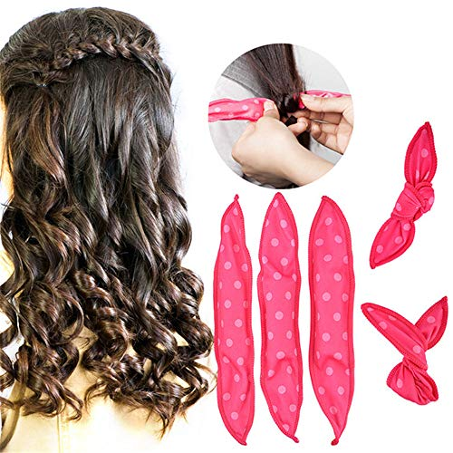 Angela 30 Pieces Hair Rollers, Spiral Curls Headband, Diy Styling Rollers Tools, No Heat Sleeping Soft Sponge, Not Damage The Hair, Best Choice For Girls