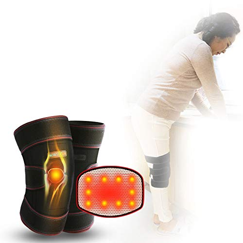 Auedc Magnetic Tourmaline Therapy Knee Support, Self Heating Knee Pad Warm Knee Pads For Knee Injury, Arthritis Pain, Muscles Pain Relief The Best Gift For The Elderly