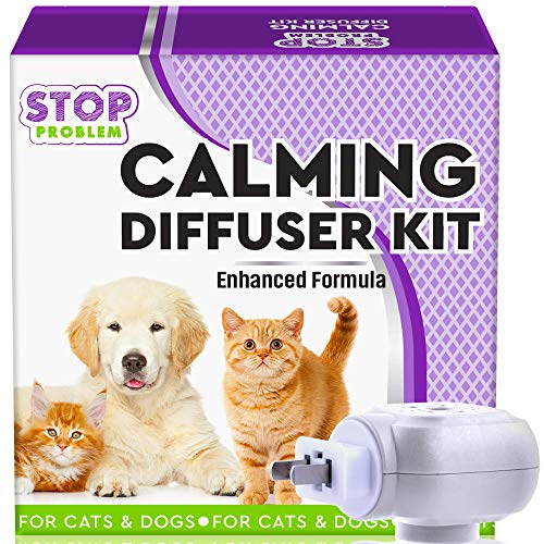 Beloved Pets Pheromone Calming Diffuser Plug In + Refill For Cats And Dogs With Long Lasting Effect Enhanced Calm Formula Of Anxiety Relief & Pet's Behavior Control Best Natural Stress Prevention