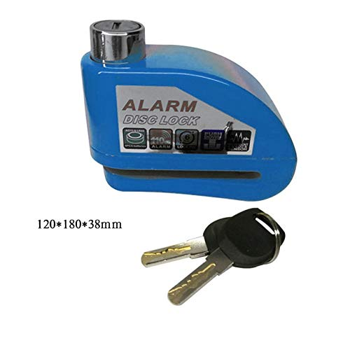 Best 1pcs Motorcycle Scooter Bicycle Disc Brake Lock Security Anti Theft Alarm Lock (color: Blue)