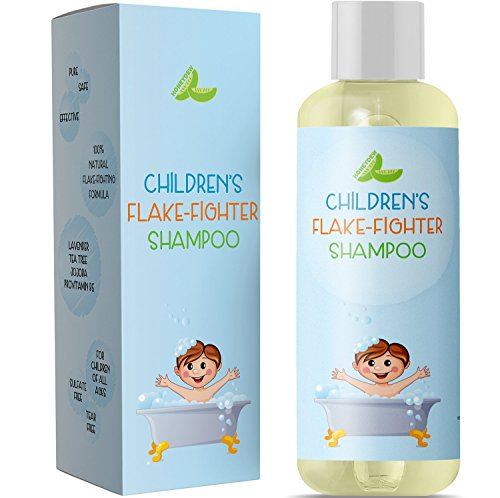 Best Anti Dandruff Shampoo For Kids – All Natural Gentle Tear Free Kid's Shampoo For Dandruff – Itchy Scalp Treatment For Children With Tea Tree Lavender & Jojoba Sulfate Free For All Ages