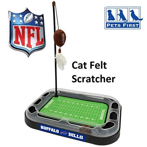 Best Cat Toy Nfl Pittsburgh Steelers Football Field Cat Scratcher Toy With Catnip Filled Plush Football Toy & Feather Cat Toy Hanging, With Jingle Bell Interactive Ball Cat Chasing 5 In 1 Kitty Toy