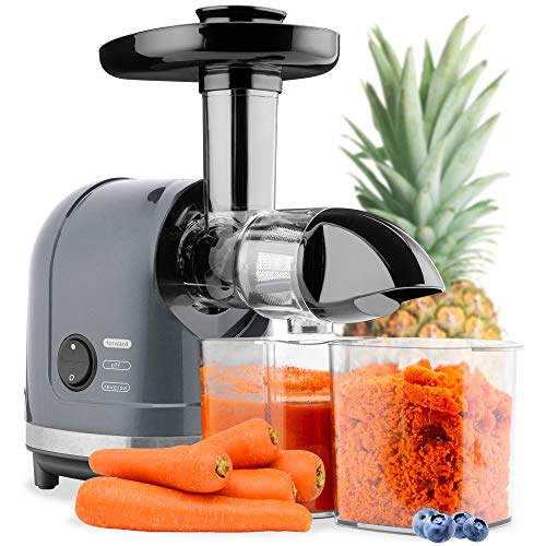 Best Choice Products 150w Horizontal Slow Masticating Juicer, Cold Press Extractor W/lock, Reverse Mode, Quiet Motor