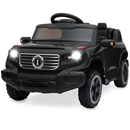 Best Choice Products 6v Kids Ride On Car Truck W/ Parent Control, 3 Speeds, Led Headlights, Mp3 Player, Horn Black
