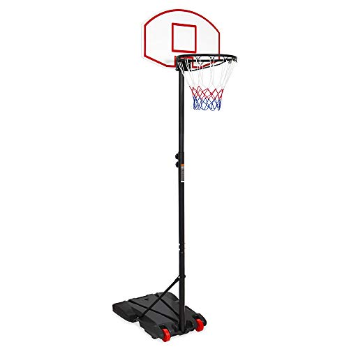 Best Choice Products Kids Portable Height Adjustable Sports Basketball Hoop Backboard System Stand W/wheels Black
