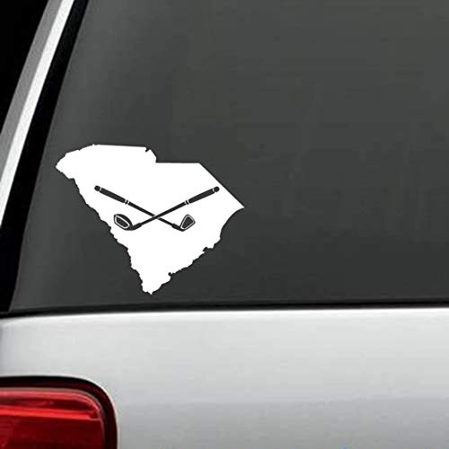 Best Design Amazing South Carolina Golf Club Driver Iron Decal Sticker Car Truck Auto Suv Golf Cart Bag Laptop Window Wall Mirror And Stick Decals Made In Usa