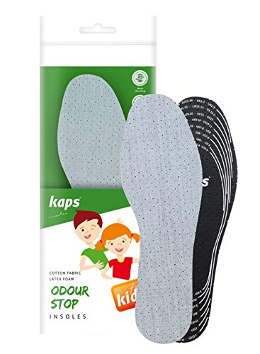 Best Shoe Insoles Inserts For Children | Bad Smell Odor Eater Technology With Breathable Foam | All Sizes Cut To Fit | Kaps Odour Stop Kids Made In Europe