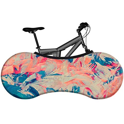 Bicycle Indoor Storage Cover,road Mountain Bicycle Tire Tyre Cover Socks Practical Bike Dustproof Elastic Cover For Tires Of 26 28 Inches,best Solution To Keep Floors And Walls Dirt Free (16055cm),r