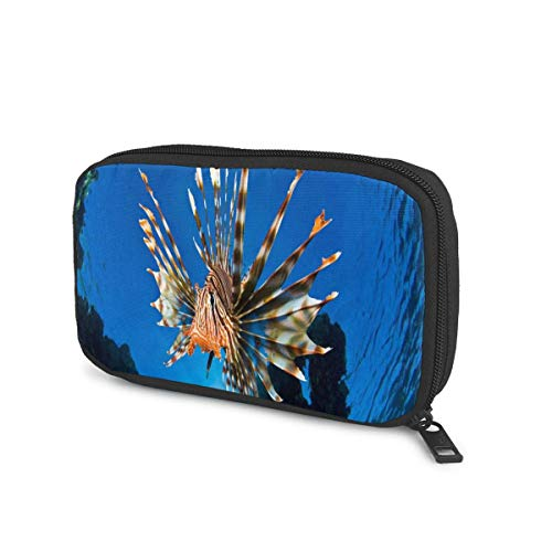 Cable Organizer Case Lionfish Best Electronic Organizer Cases Travel Charger Cable Storage Case Tech Organizer Pouch Electronics Accessories Bag For Charger, Usb, Power Bank, Hard Drives