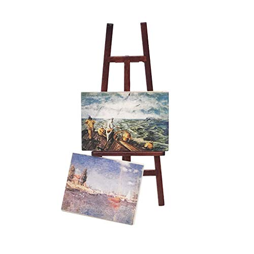 Coohole 1:12 Dollhouse Miniature Furniture Accessories Exquisite Mini Wooden Diy Easel Oil Painting Set Pretend Play Educational Toy Decoration Ornament For Children Kids Holiday Best Gift
