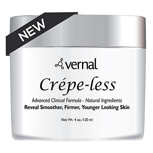 Crepe Less Crepey Skin Firming Cream To Repair Crepey Arms, Neck & Hands. Organic Tightening Cream To Erase Crepy Skin On Arms, Neck And Body. Best Moisturizer To Treat Saggy, Crepe Skin. Made In Usa