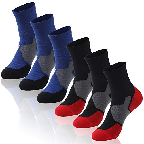 Cycling Socks For Men & Women, Insox Boys Girls Juniors Soft Cotton Breathable Ankle Bike Socks For Mountain Biking, Spinning, Racing, Running, Hiking Best Gift For Friends, Husband, Family Members