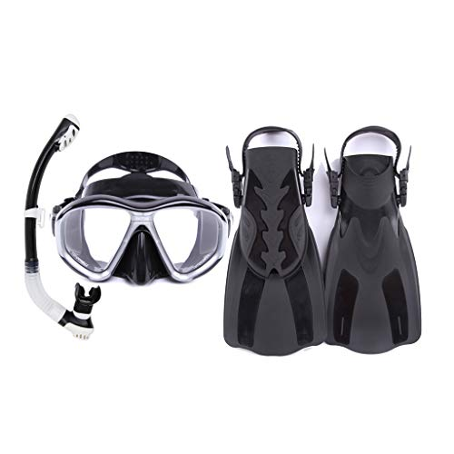 Dimpleya Snorkel Set With Diving Mask, Dry Top Snorkel And Open Foot Pocket Luxury Fins For Men And Women Best Snorkel Kit For Spearfishing And Scuba Comes,c,ml/xl
