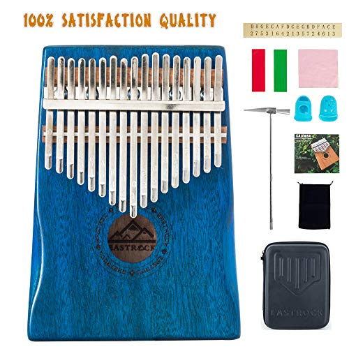 Eastrock Kalimba 17 Keys Thumb Piano, Portable Finger Piano Gifts With Eva Waterproof Hard Protective Case, Professional Acoustic Music Gift For Kids Adult Best Kalimba Bundle Deal Purchase Today!