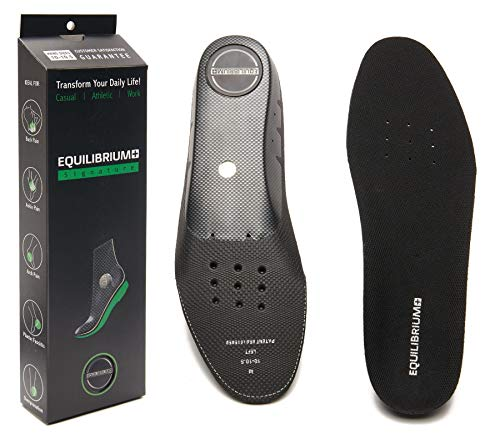 Equilibrium+ Orthotic Plantar Fasciitis Arch And Balance Support Shoe Insoles For Men And Women Best Comfortable Inserts Relieving Foot, Arch,and Knee Pain,for Running,walking,sports(men's/10 10.5)