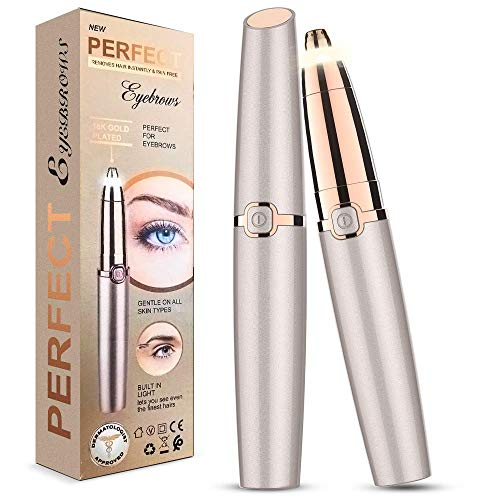 Eyebrow Hair Remover, Xpreen Electric Eyebrow Hair Trimmer With Led Light Eyebrow Hair Remover For Women Best & Safest Lady Trimmer For Eyebrow