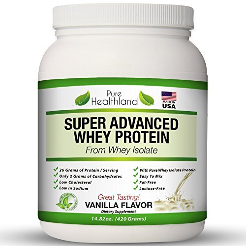 Fat Free Best Tasting Whey Protein Isolate Powder Vanilla Flavor Diet Supplements For Men, Women And Seniors. Organic Natural Pure Whey Protein Powder. Lactose Free.made In Usa