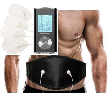 Fda Cleared Healthmateforever Hm10gl Black 10 Modes Powerful Portable Pain Relief Digital Therapy Massager Best Massager Support Belt + Lumbar Belt For Back Pain Relief