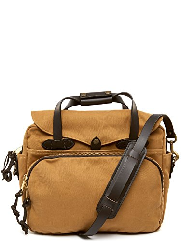 Filson Padded Laptop Bag/briefcase One Size Tan Best For School, Business, Day Trips, And Travel Use Computer / Tech Bag