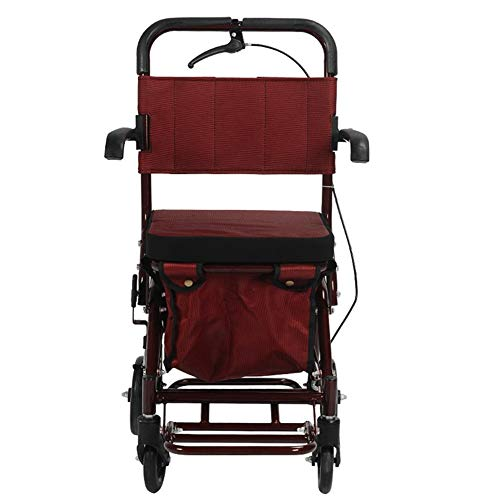 Folding Shopping Bags Walker Small Cart Old Cart Grocery Shopping Cart Wheelchair Pushable Can Sit Elderly Folding Walker Four Wheel Shopping Cart/scooter Load Give The Best Gift For The Elderly Shopp