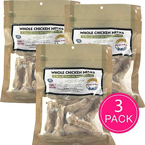 Fresh Is Best Freeze Dried Pet Food Treats 3 Pack Dog And Cat All Natural Chicken Necks