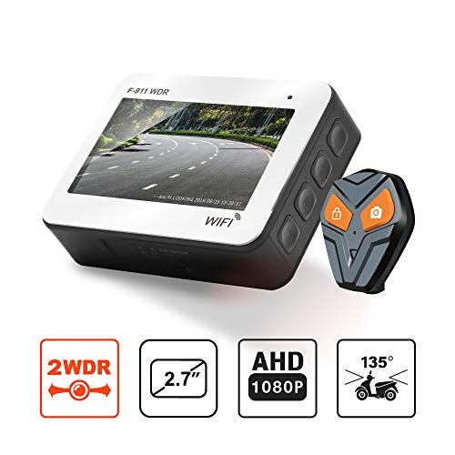 Front And Rear Motorcycle Dash Cam Full Hd 1080p Wdr Sensor Ip68 Waterproof Dvr Dual Recording Capacitor Wifi Connectivity With Best Night Vision