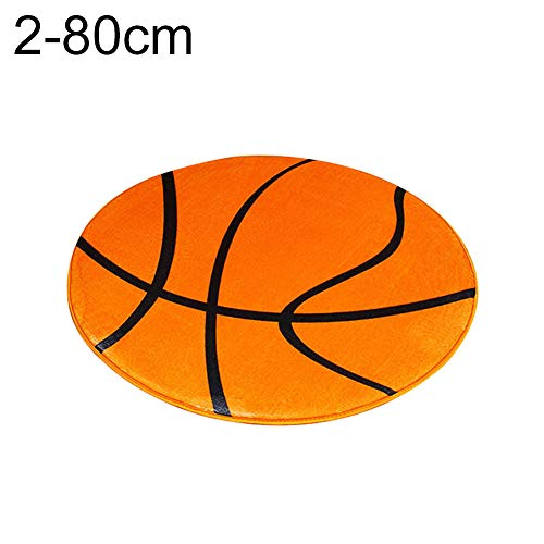 Gnc33ouhen Soft Mat Carpet Rug Round Football Basketball Pattern Pad Computer Chair Home Decor For Boys Bedrooms Playroom Kid's Room Nursery Decor 2019 Best Shower Gift 2# 80cm