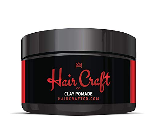 Hair Craft Co. Clay Pomade 2.8oz Shine Free Matte Finish Medium Hold/natural Look – Best Men's Styling Product, Barber Approved – Ideal For Textured, Thickened & Modern Hairstyles – Unscented