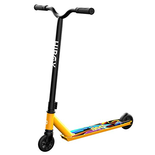 Hiboy St 1 Pro Stunt Scooters Aircraft Aluminum High Performance & 110mm Wheels Best Beginner Trick Scooter Freestyle Kick Scooter For Kids, Teens, And Adults (golden)