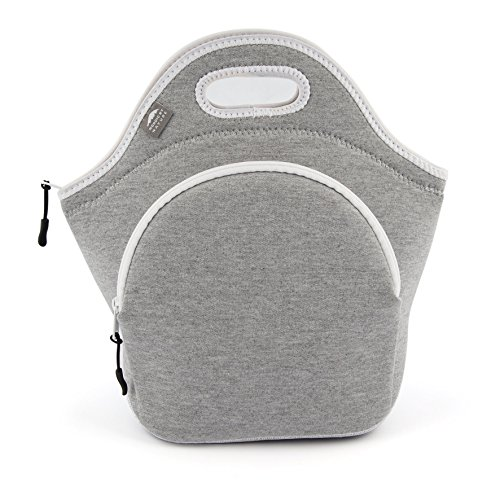 "Insulated Large Neoprene Lunch Bag For Women, Men & Kids | Extra Pocket | 5 Mm Insulation | 13.5"" Big 