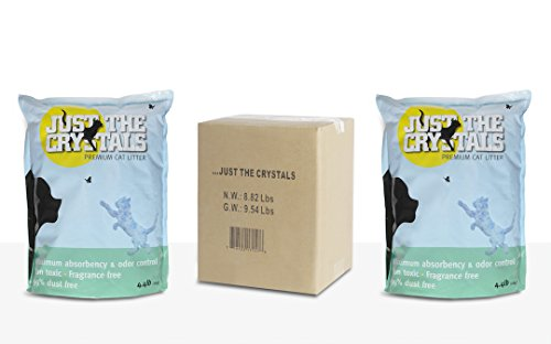 Just The Crystals 2 Pack. Longest Lasting Premium Non Clumping Crystal Cat Litter Absorbs More, Fragrance Free, Best Odor Control Sale Extended Until Aug 16th
