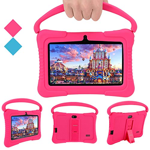 Kids Tablets Pc, Veidoo 7 Inch Android Kids Tablet With 1gb Ram 16gb Storage, Safety Eye Protection Ips Screen, Premium Parent Control Pre Installed Educational App, Best Gift For Children (pink)