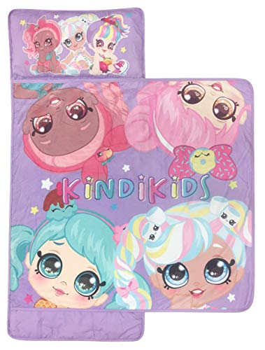 Kindi Kids Best Friends Nap Mat Built In Pillow And Blanket Featuring Peppa Mint & Marsha Mello Super Soft Microfiber Kids'/toddler/children's Bedding, Ages 3 5 (official Kindi Kids Product)