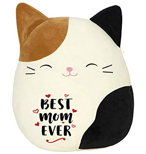 """Limited Edition! Best Mom Ever! Squishmallow Original Kellytoy Cam The Cat Super Soft Plush Toy Stuffed Animal Pet Pillow Birthday,happy (8"""")"""