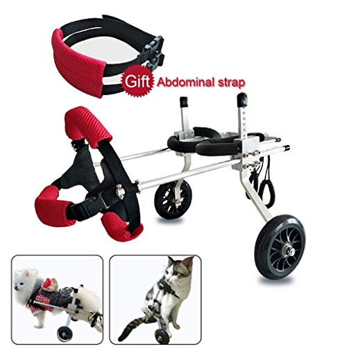 Ly Dog Treadmills Best Friend—dog Wheelchair Dog Mobility Harness,rear Support Wheelchair, Adjustable Stainless Steel Cart Pet/cat Dog Wheelchair Hind Leg Rehabilitation For Handicapped Dog, 2 Wheel P